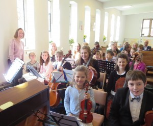 Young musicians of Hestercombe Centre for Young Musicians